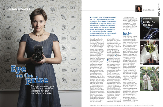Hartford Magazine Press on Jane Shauck Photography