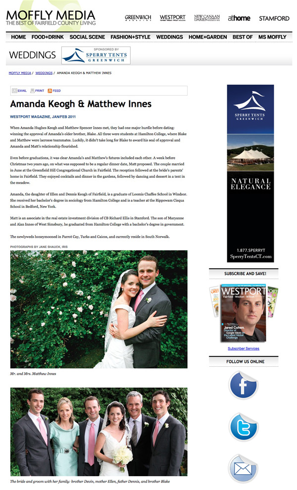 Fairfield County Wedding Westport Magazine Page 1