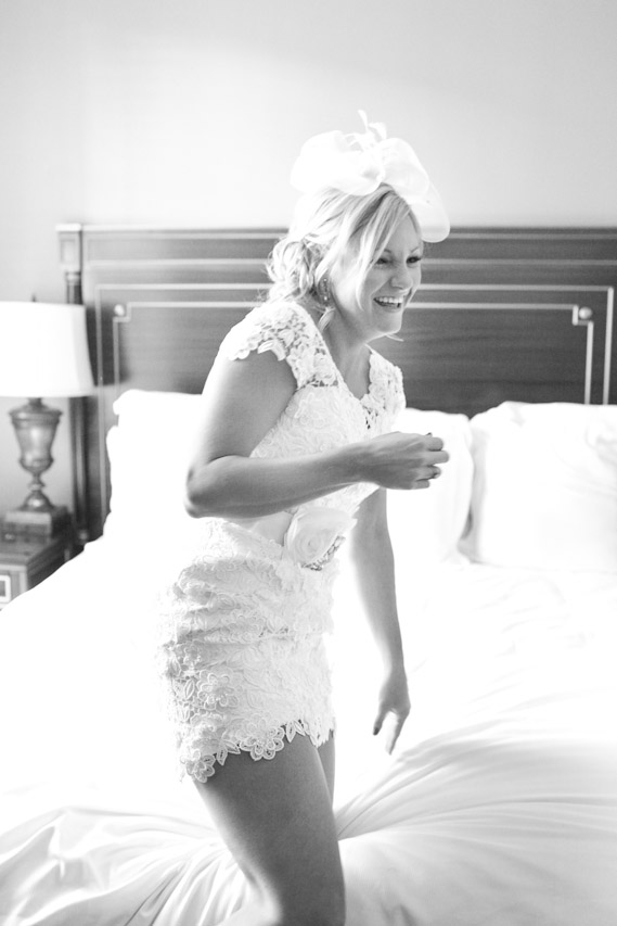 New Orleans Bride in Short Wedding Dress
