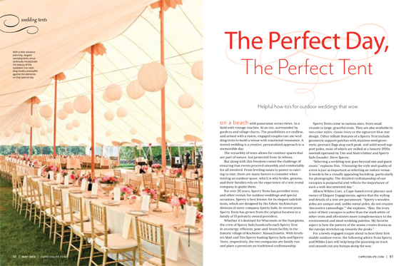 Sperry Tents and Cape Cod Weddings Featured in Cape Cod Life!  sc 1 st  IRIS Photography & Sperry Tents and Cape Cod Weddings: Featured in Cape Cod Life ...